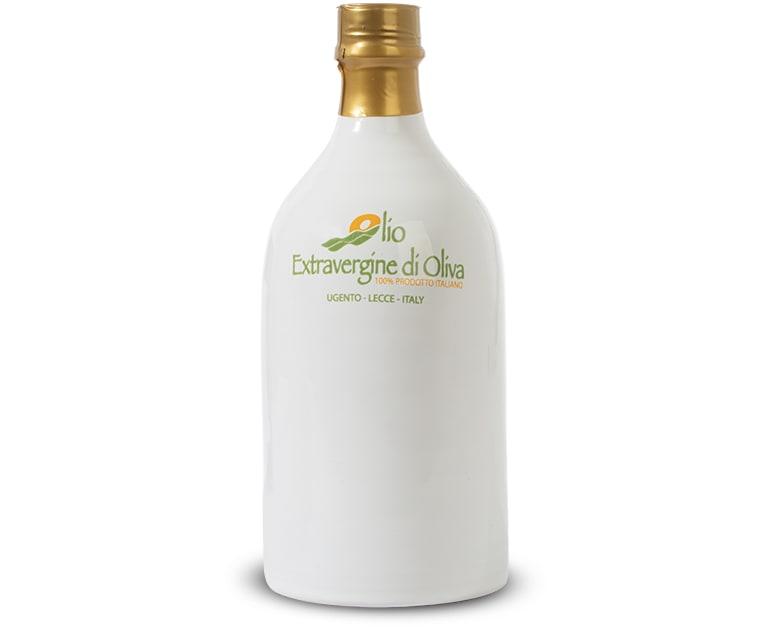 0,5 Liter Terracotta-Flasche extra natives Olivenöl mit milden Geschmack Paiano