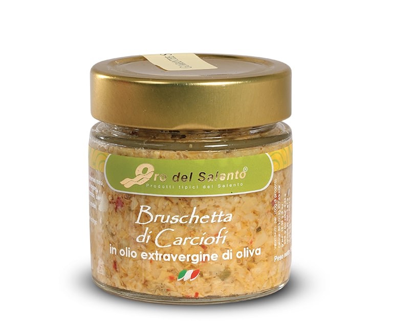 Bruschetta di carciofi in olio extravergine di oliva