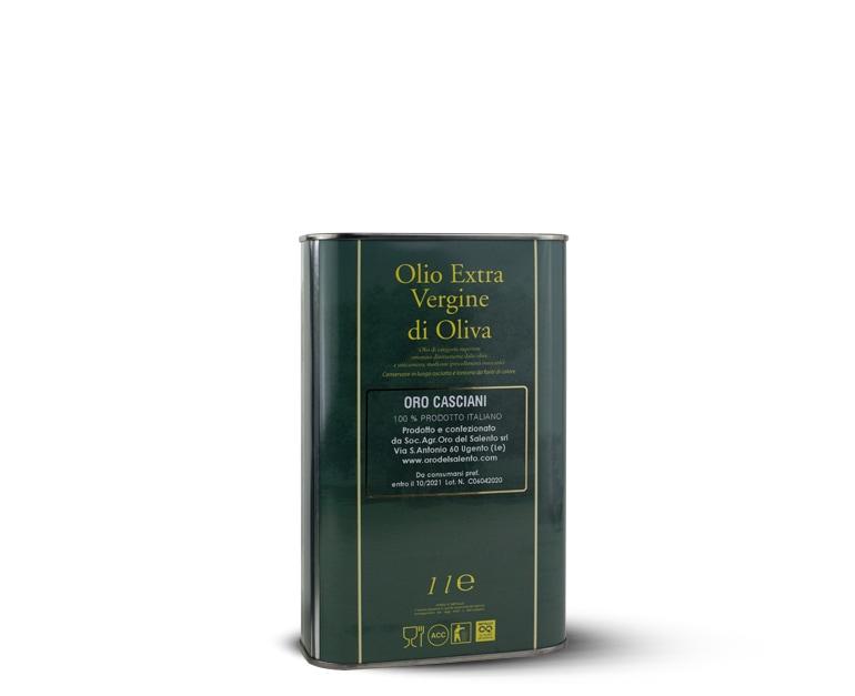 Extra natives Olivenöl, robuster Geschmack, Casciani 1 L
