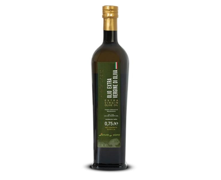 Extra virgin olive oil bottle rich taste Casciani 0,75 L