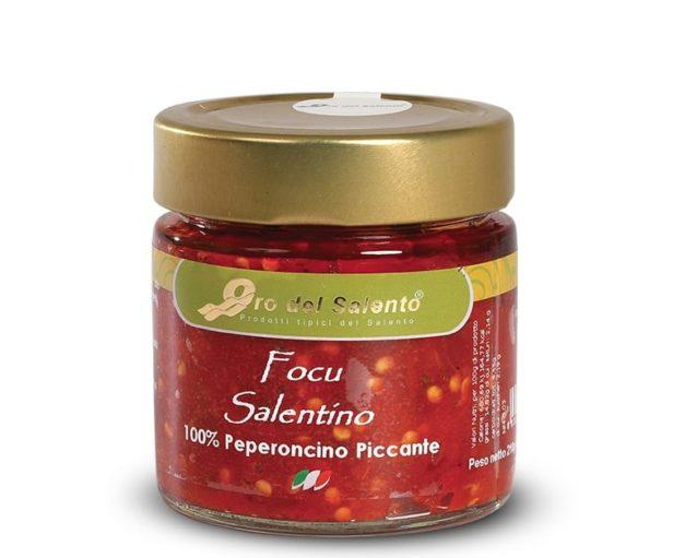 Focu Salentino, gemahlene Chili Schoten in Öl