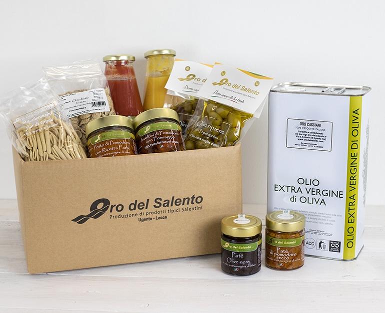 Food Box Gallipoli mit typischen Produkten aus Apulien