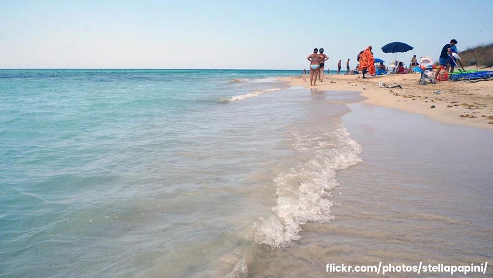 La spiaggia di Pescoluse Le Maldive del Salento