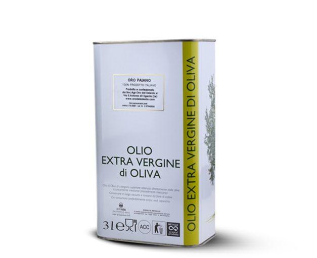 Olio extravergine di Oliva gusto delicato Paiano 3L
