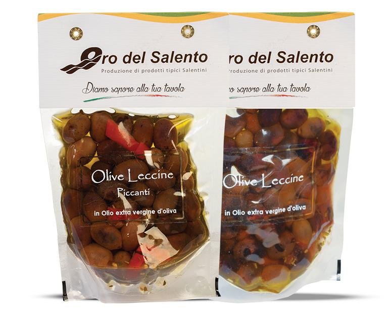Olive Leccine tradizionali e piccanti
