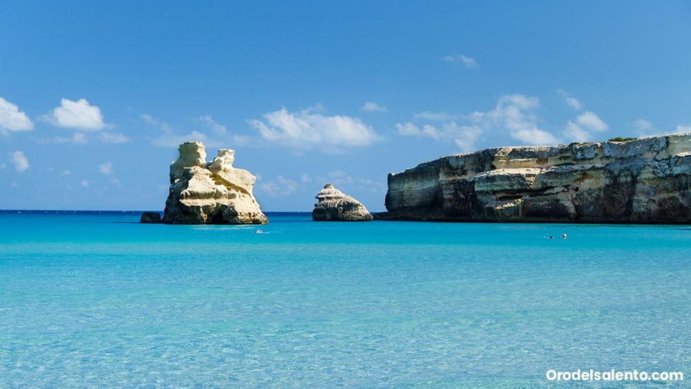 Torre dell'Orso un mare cristallino e caldo, come ai Caraibi