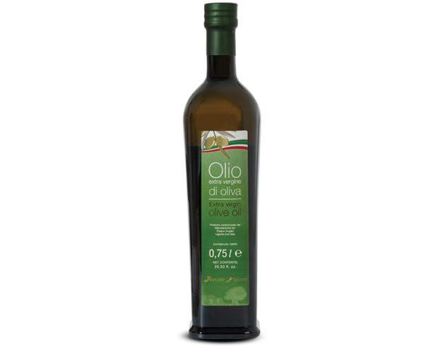 075 liter Extra virgin olive oil bottle mild taste Paiano