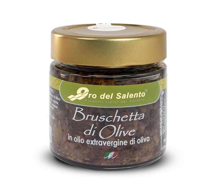 Bruschetta di olive in olio extravergine di oliva
