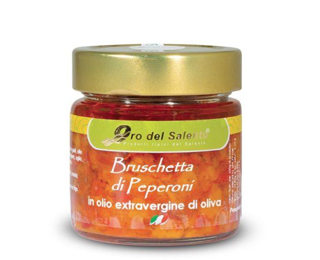 bruschetta di peperoni rossi e gialli dolci