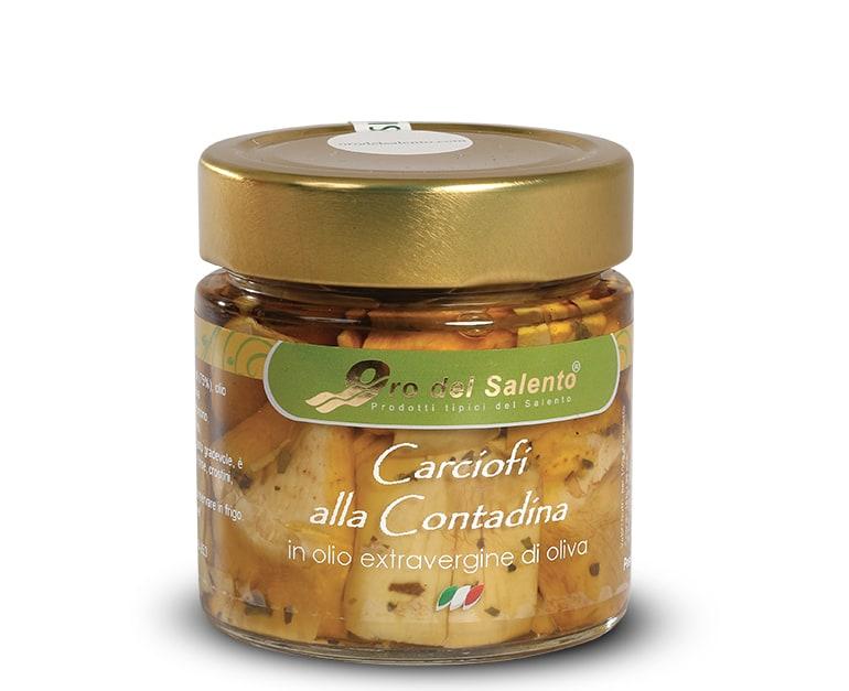 carciofi alla contadina in olio extravergine di oliva