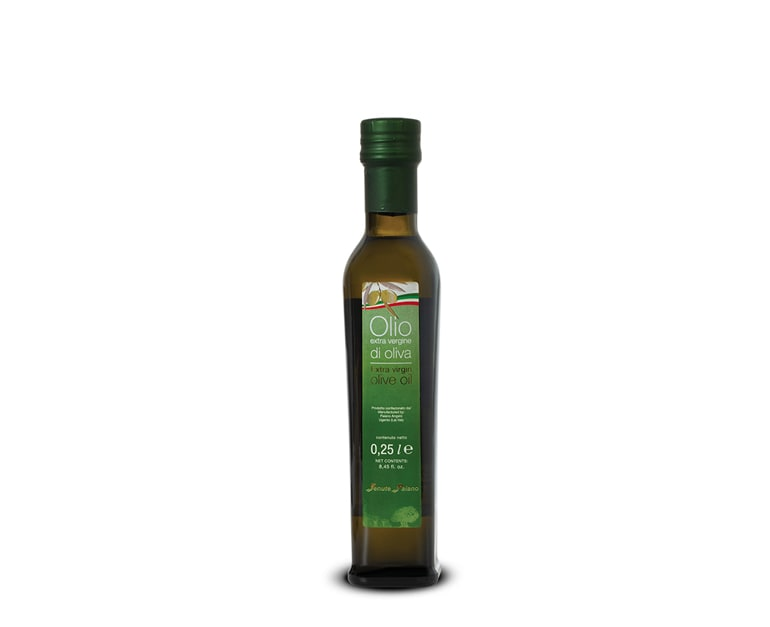 0,25 Liter Flasche extra natives Olivenöl mit milden Geschmack Paiano