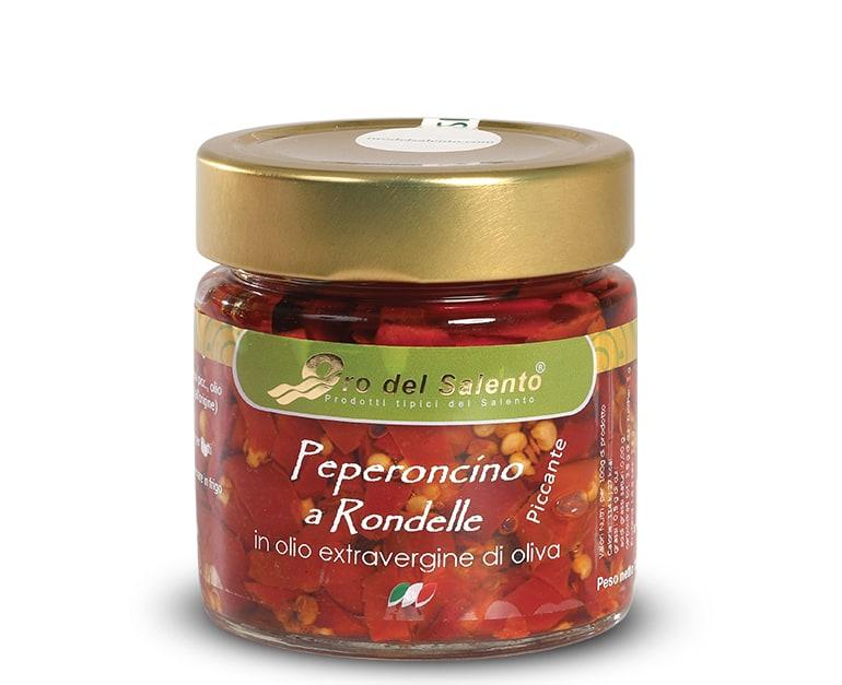 Peperoncino a rondelle piccante in olio extravergine di oliva