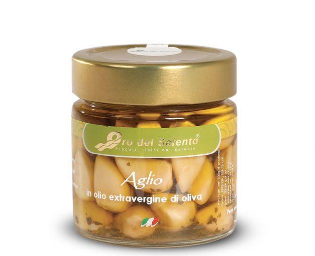 Vasetto di aglio tradizionale in olio extravergine